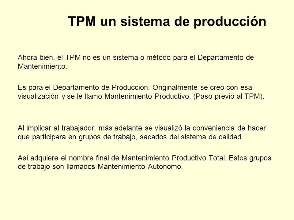 TPM un sistema de producción