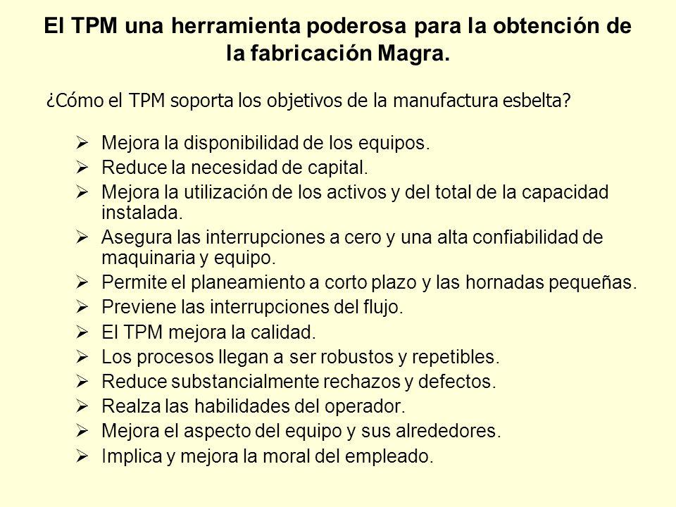 El TPM una herramienta poderosa para la obtención de la fabricación Magra.