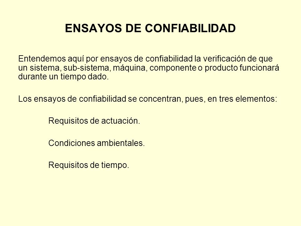 ENSAYOS DE CONFIABILIDAD