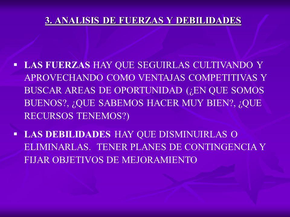 3. ANALISIS DE FUERZAS Y DEBILIDADES