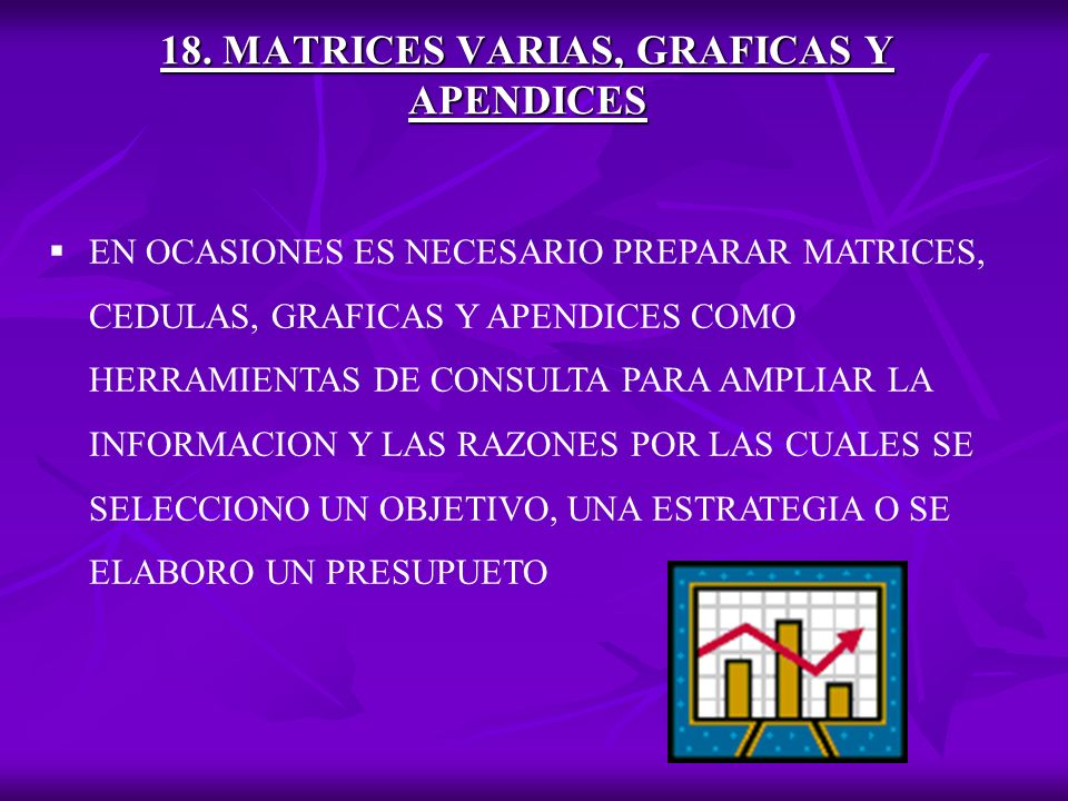 18. MATRICES VARIAS, GRAFICAS Y APENDICES