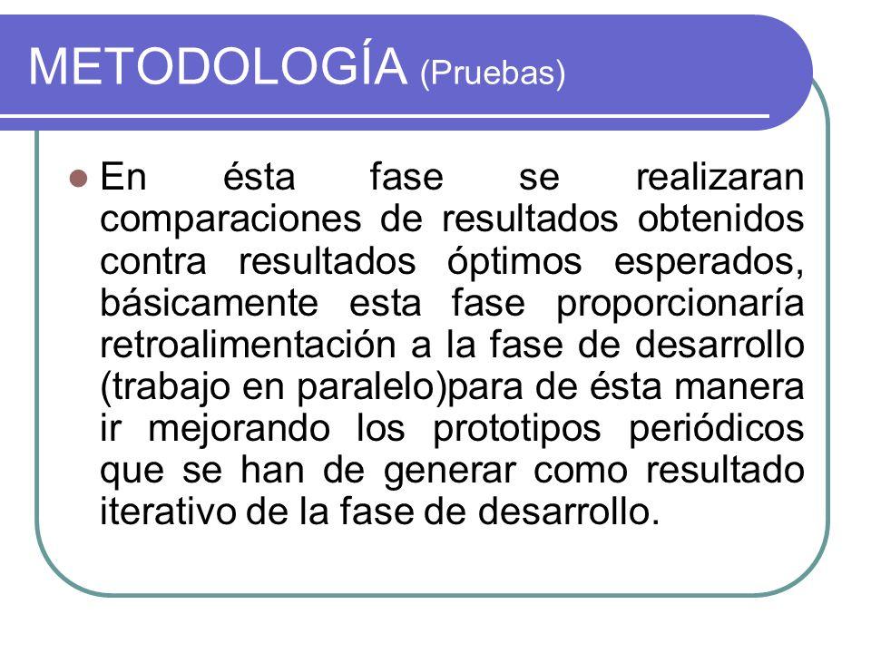 METODOLOGÍA (Pruebas)