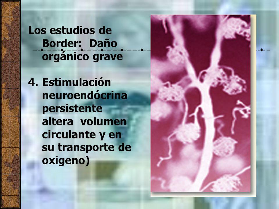 Los estudios de Border: Daño orgánico grave