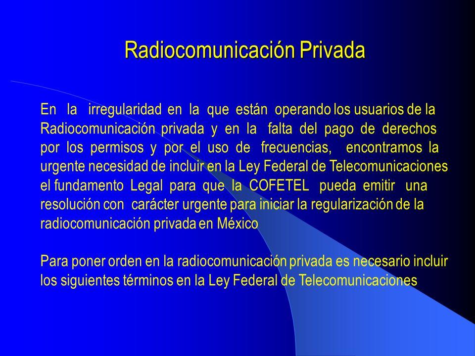 Radiocomunicación Privada