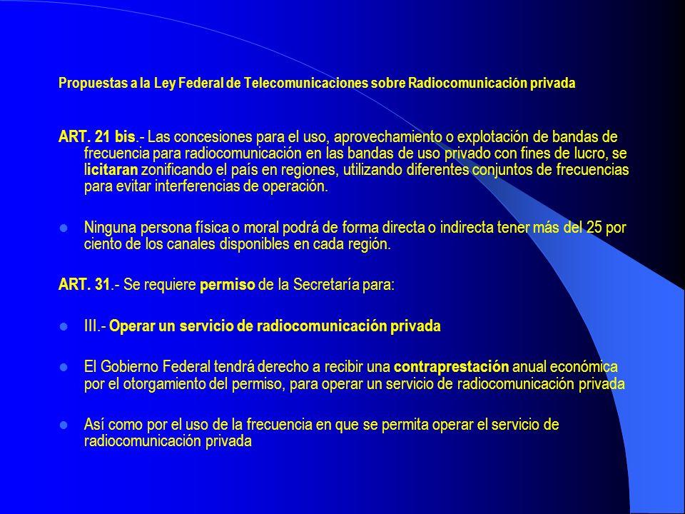 ART. 31.- Se requiere permiso de la Secretaría para: