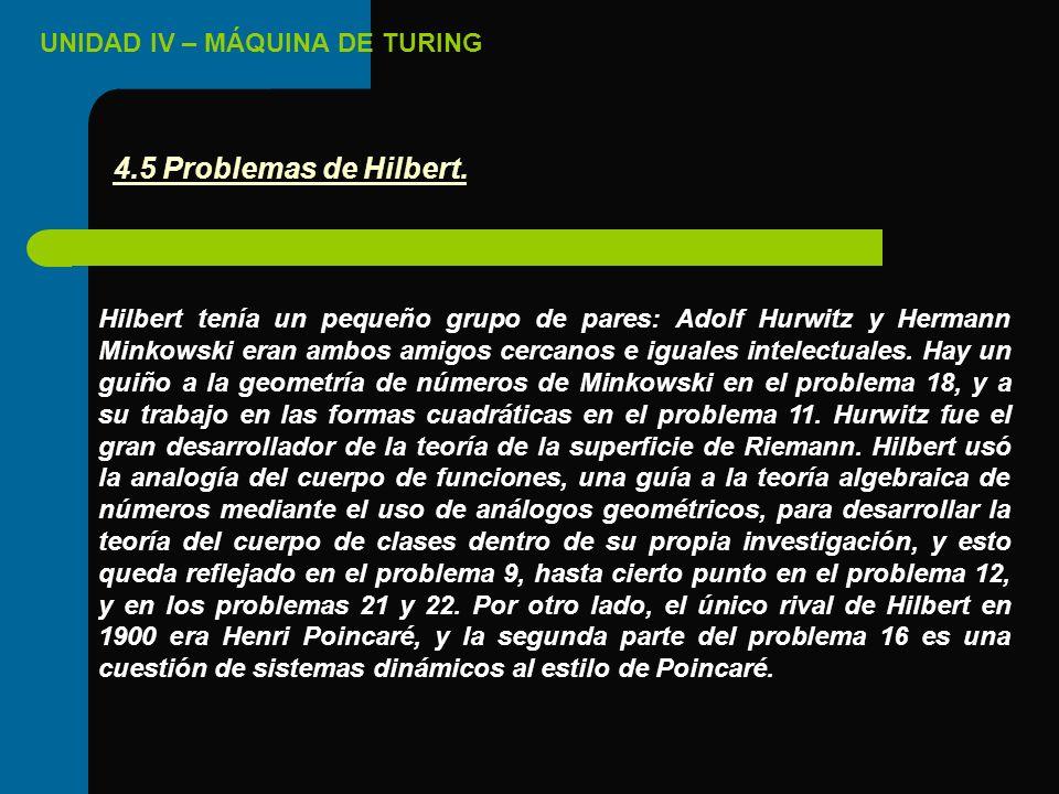 4.5 Problemas de Hilbert.