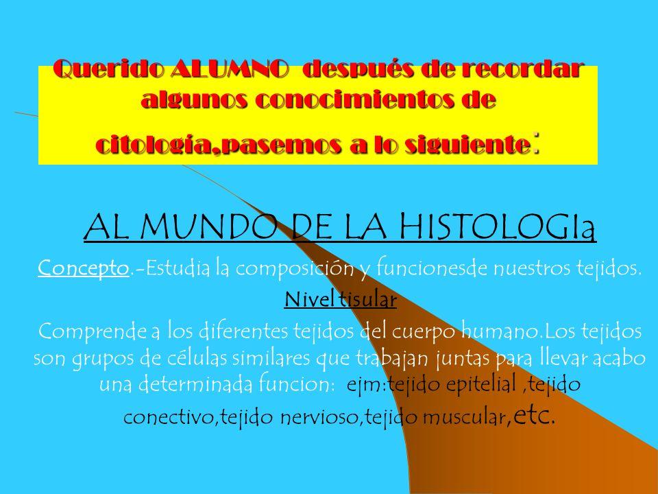 AL MUNDO DE LA HISTOLOGIa