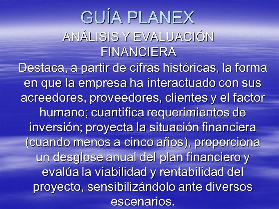 ANÁLISIS Y EVALUACIÓN FINANCIERA