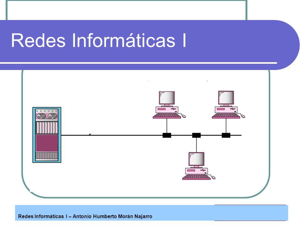 Redes Informáticas I Redes Informáticas I – Antonio Humberto Morán Najarro
