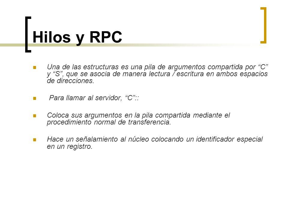 Hilos y RPC