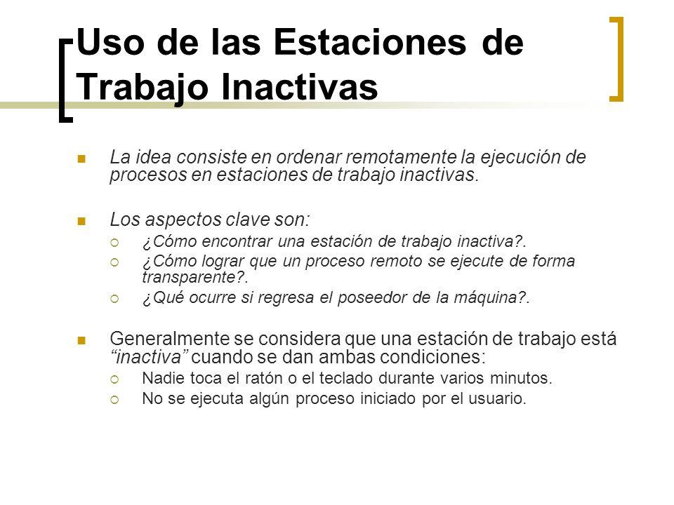 Uso de las Estaciones de Trabajo Inactivas