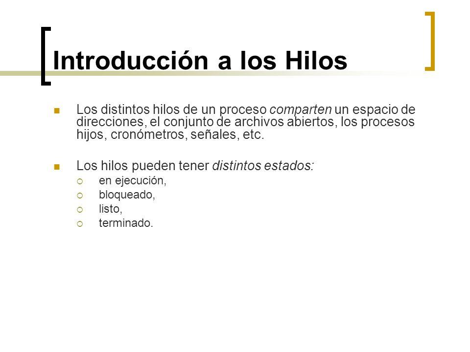 Introducción a los Hilos
