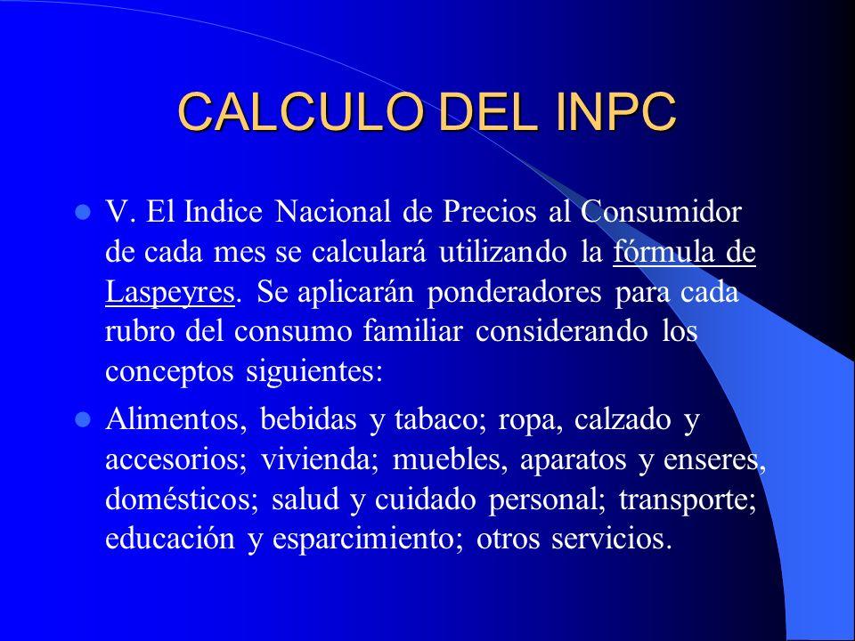 CALCULO DEL INPC