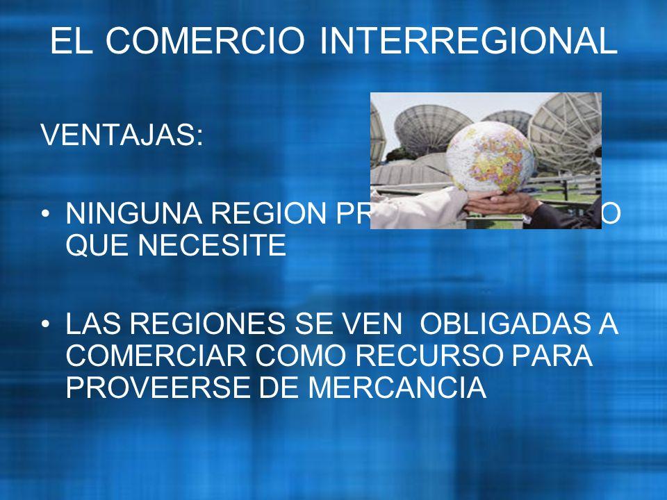 EL COMERCIO INTERREGIONAL