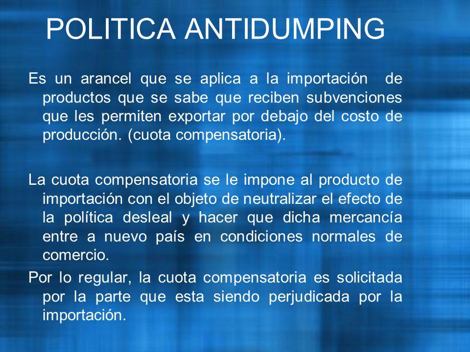POLITICA ANTIDUMPING