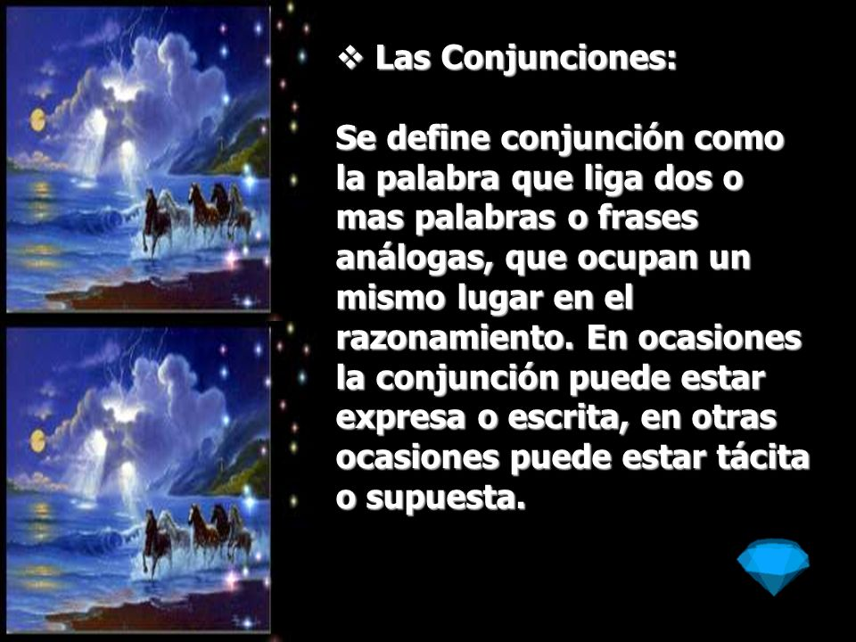 Las Conjunciones: