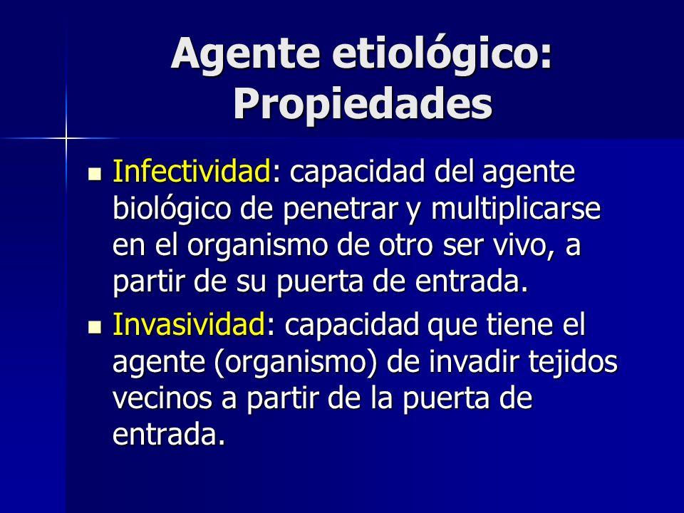 Agente etiológico: Propiedades