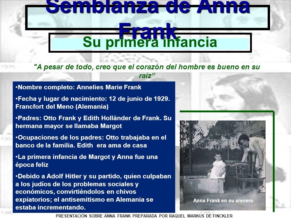 Semblanza de Anna Frank
