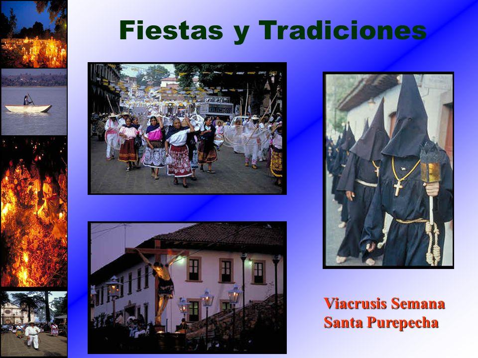Fiestas y Tradiciones Viacrusis Semana Santa Purepecha