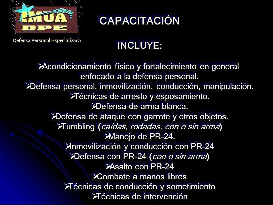 CAPACITACIÓN INCLUYE: