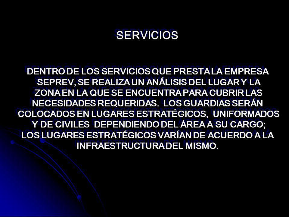 SERVICIOS DENTRO DE LOS SERVICIOS QUE PRESTA LA EMPRESA