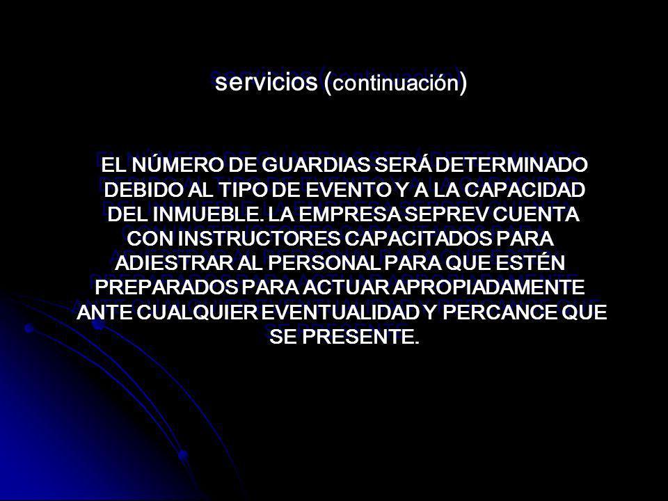 servicios (continuación)