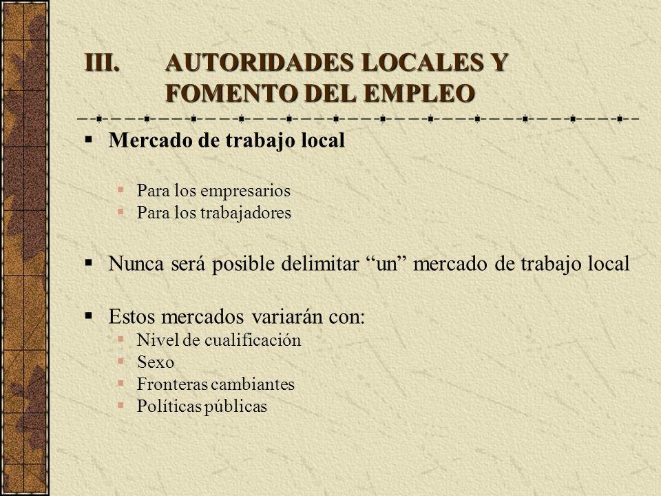 AUTORIDADES LOCALES Y FOMENTO DEL EMPLEO