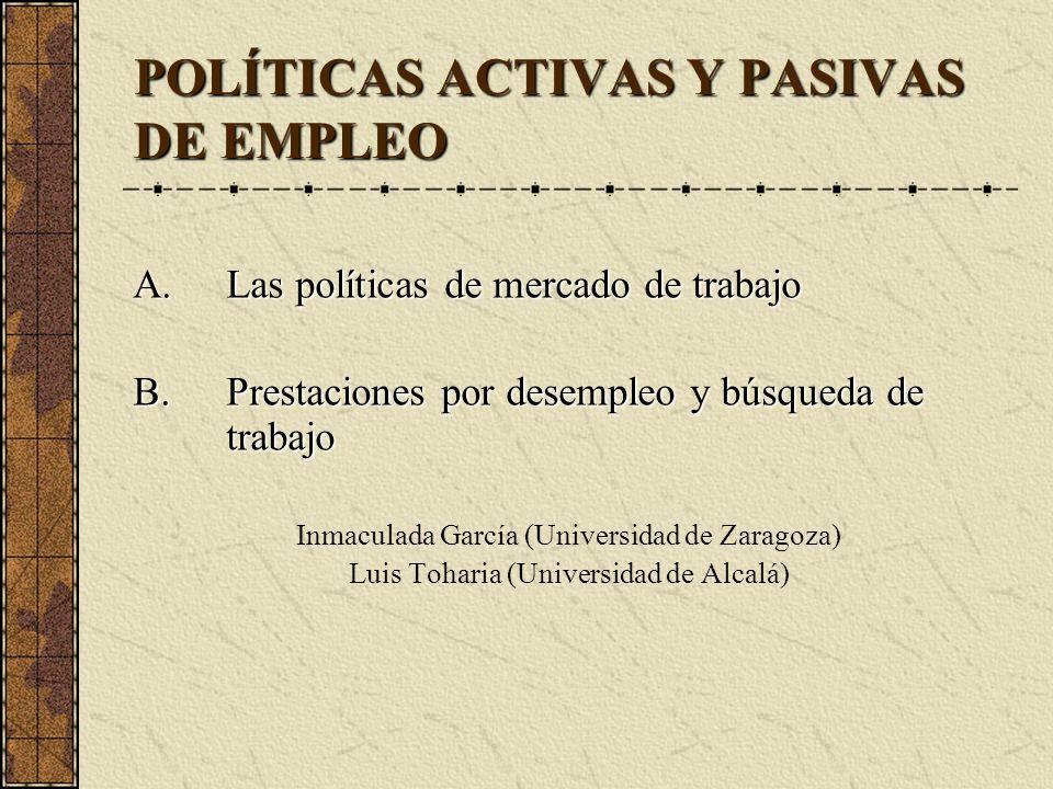 POLÍTICAS ACTIVAS Y PASIVAS DE EMPLEO
