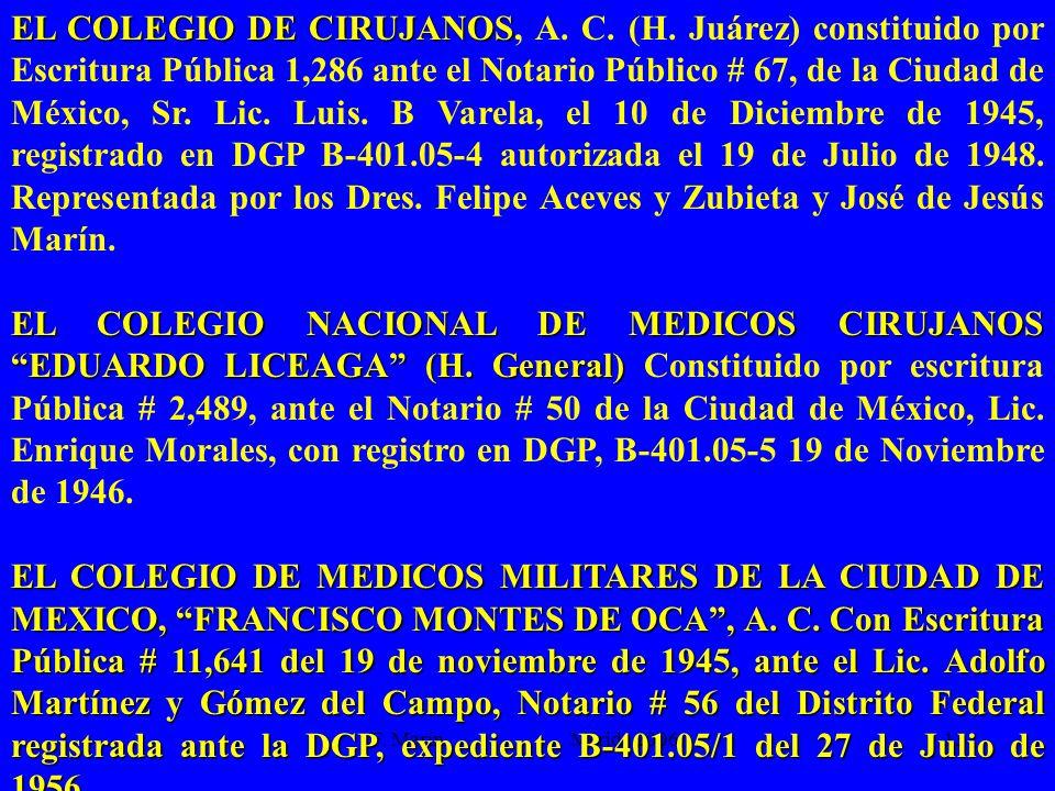 EL COLEGIO DE CIRUJANOS, A. C. (H