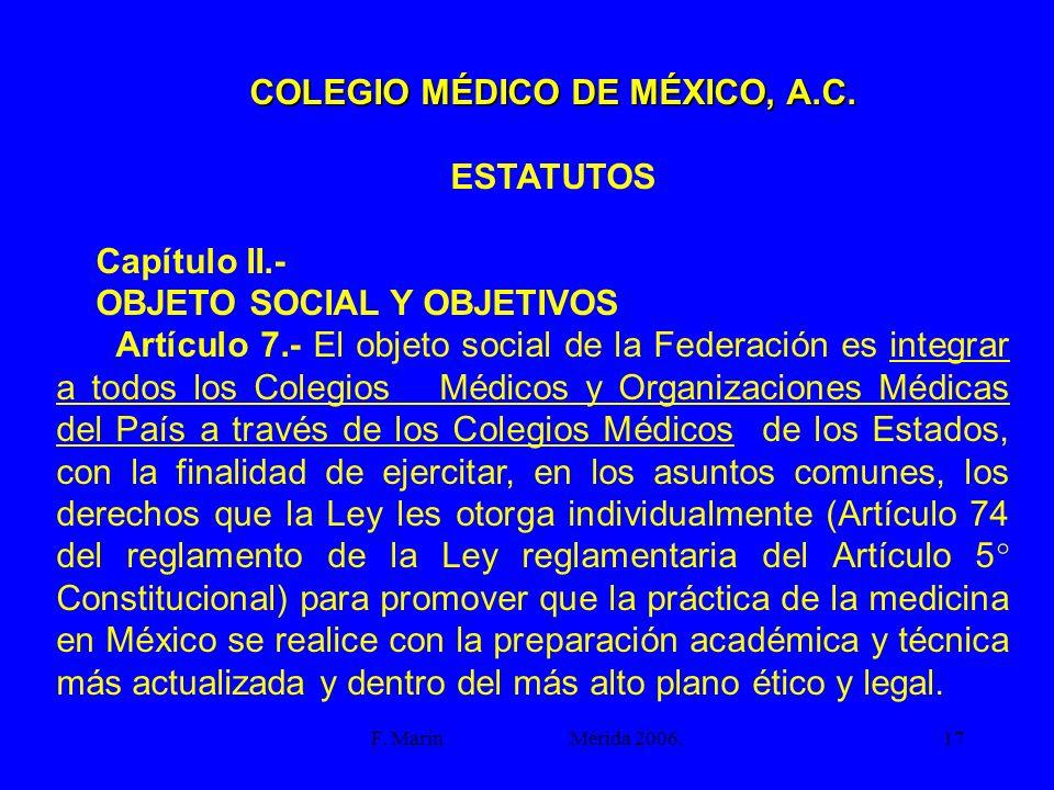 COLEGIO MÉDICO DE MÉXICO, A.C.