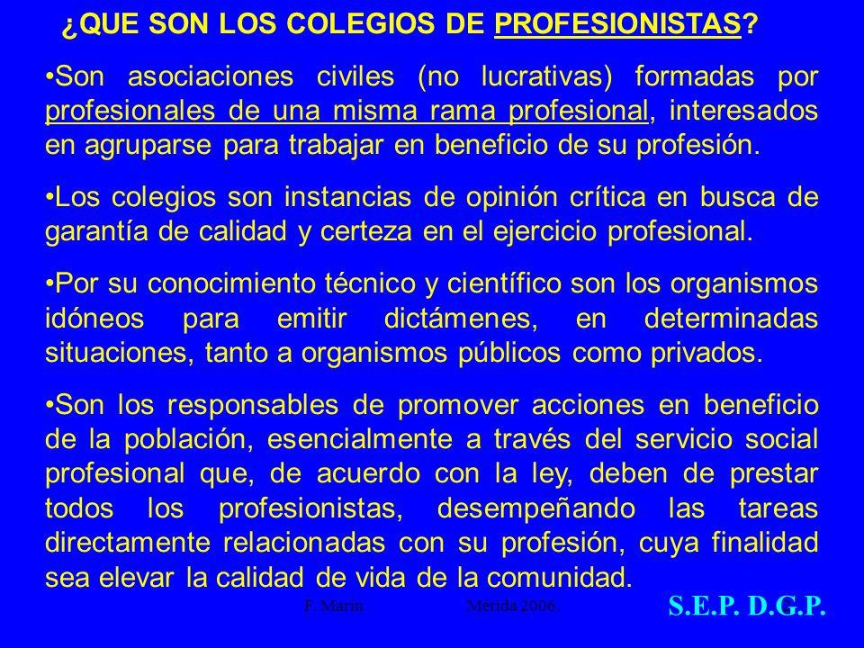 ¿QUE SON LOS COLEGIOS DE PROFESIONISTAS