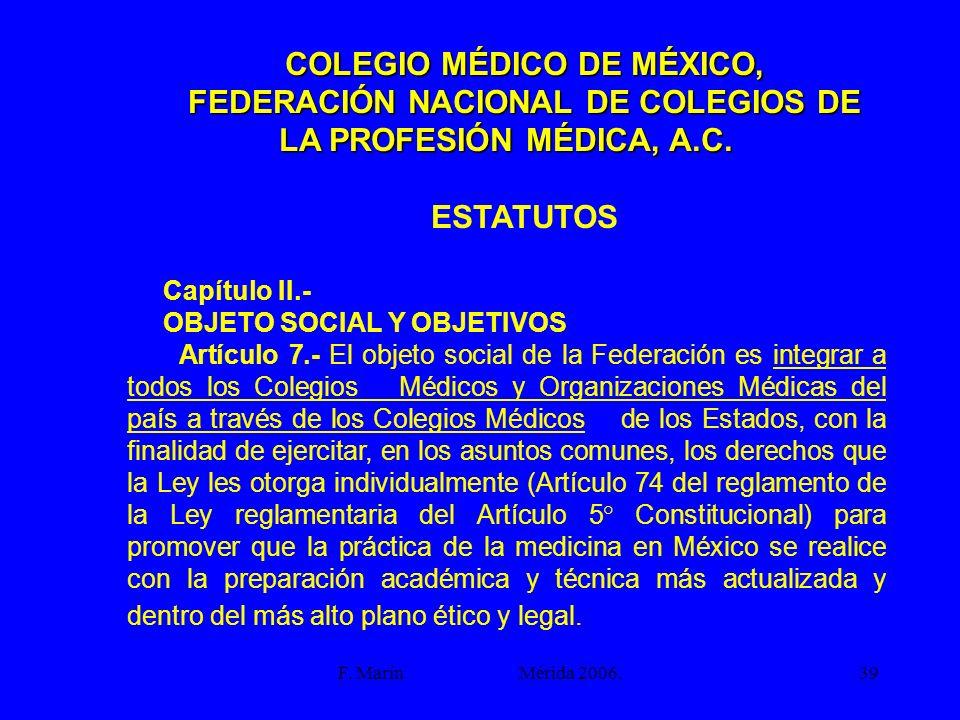 COLEGIO MÉDICO DE MÉXICO,
