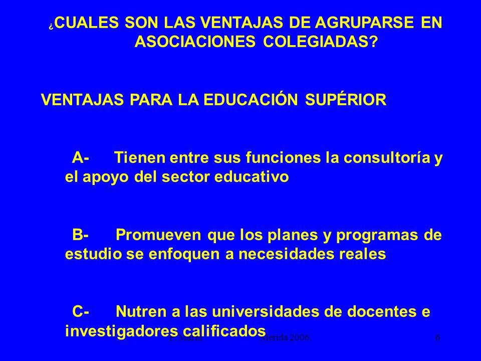 ¿CUALES SON LAS VENTAJAS DE AGRUPARSE EN ASOCIACIONES COLEGIADAS