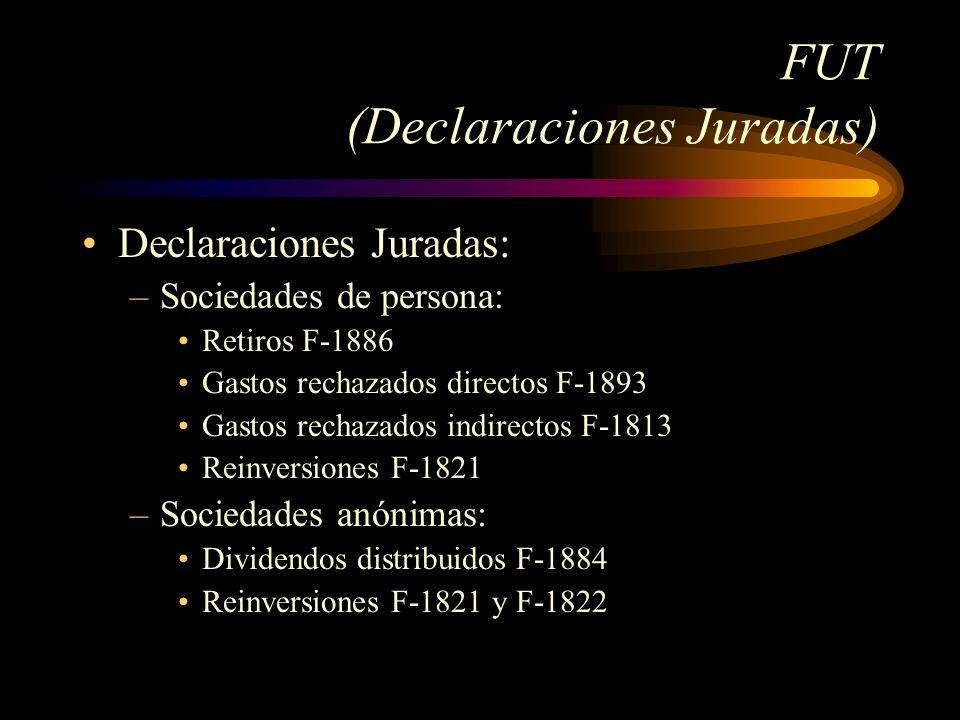 FUT (Declaraciones Juradas)