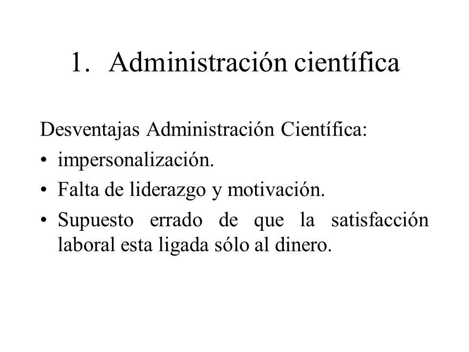 1. Administración científica