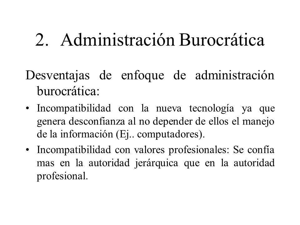 2. Administración Burocrática