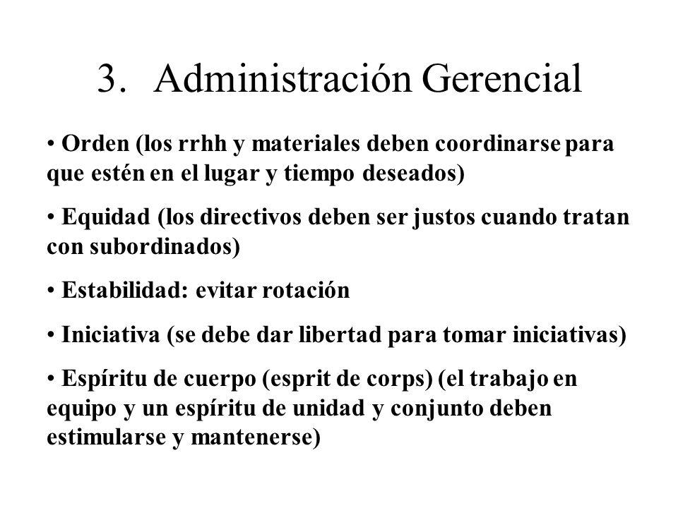 3. Administración Gerencial