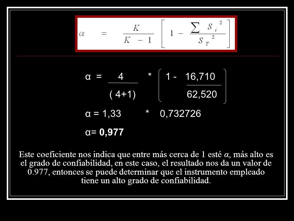 α = 4 * 1 - 16,710 ( 4+1) 62,520. α = 1,33 * 0,732726.