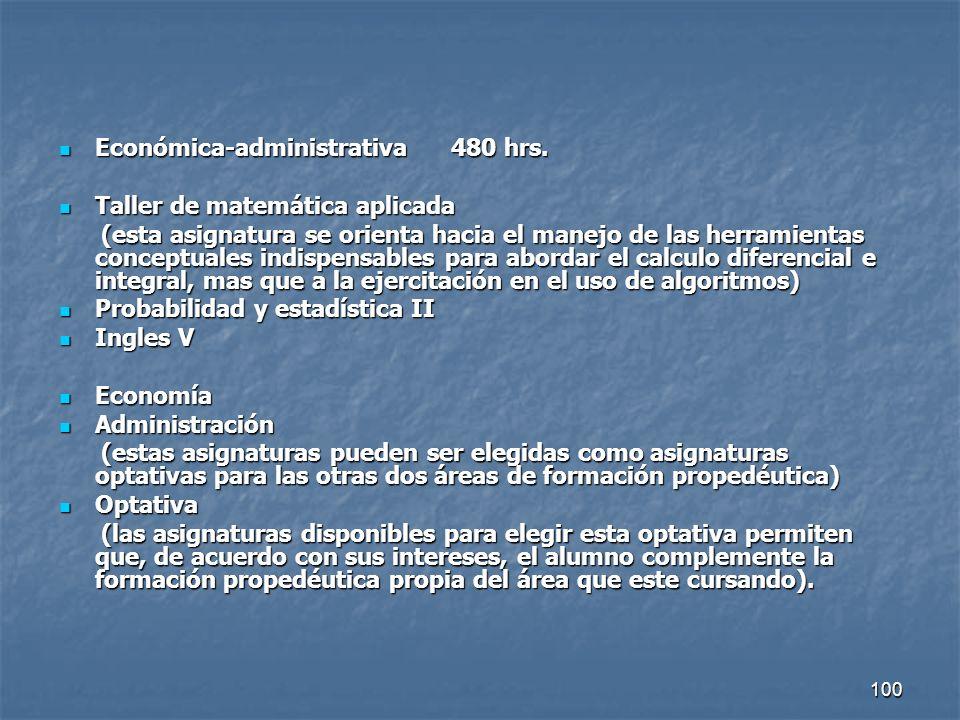 Económica-administrativa 480 hrs.