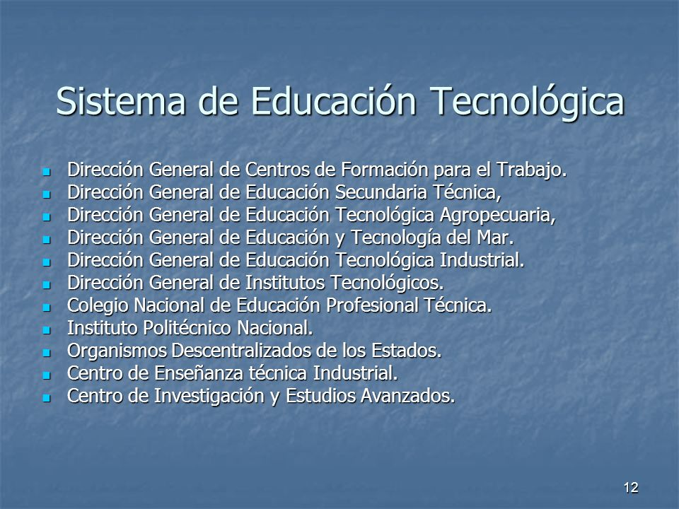 Sistema de Educación Tecnológica