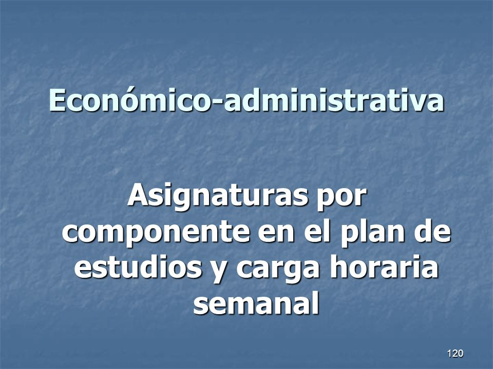 Económico-administrativa