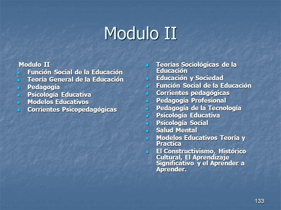 Modulo II Modulo II Función Social de la Educación