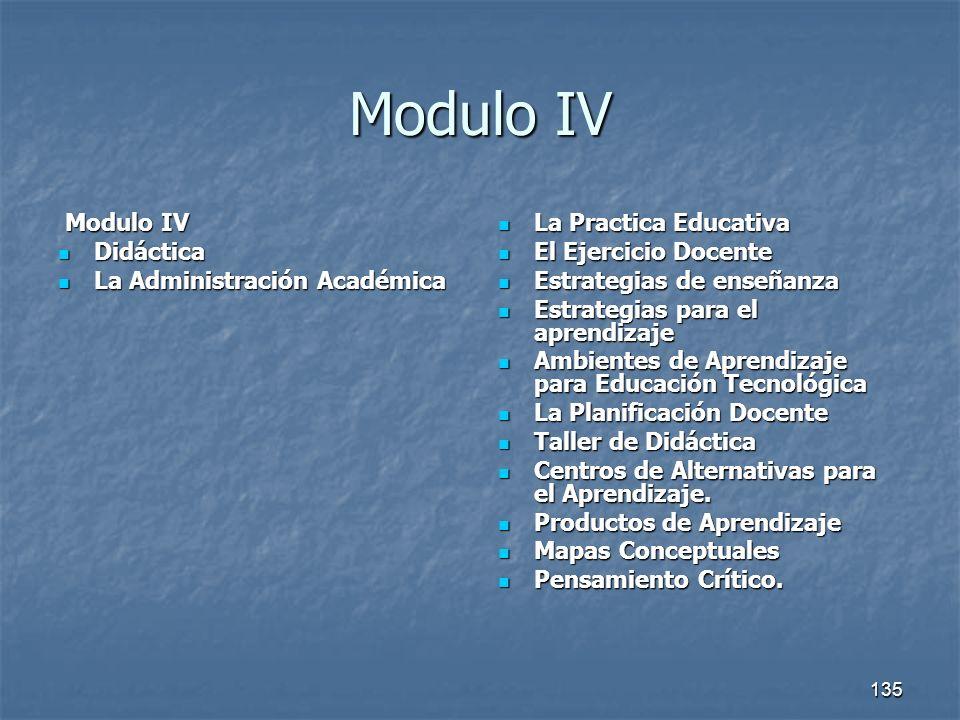 Modulo IV Modulo IV Didáctica La Administración Académica
