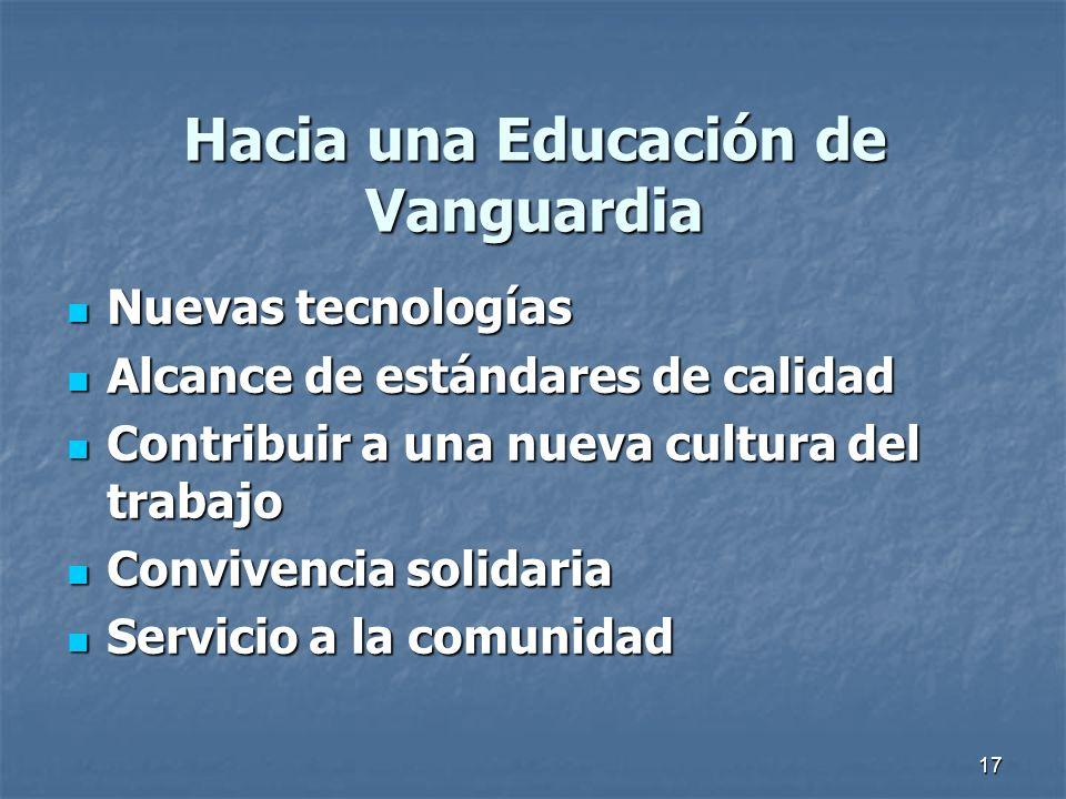 Hacia una Educación de Vanguardia