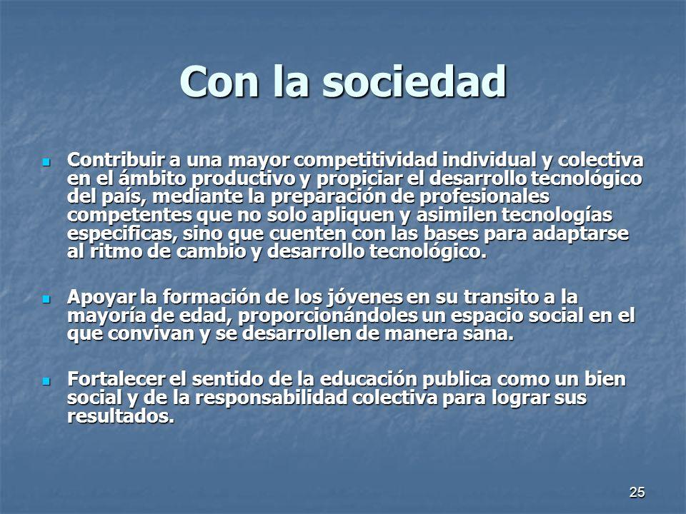 Con la sociedad