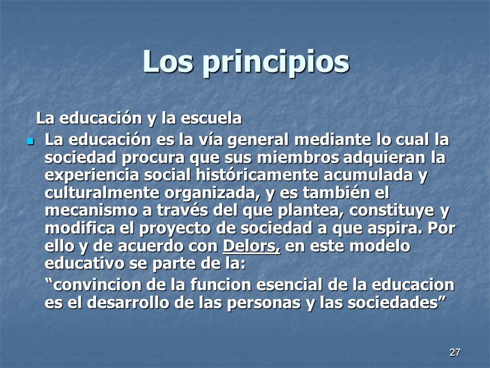 Los principios La educación y la escuela