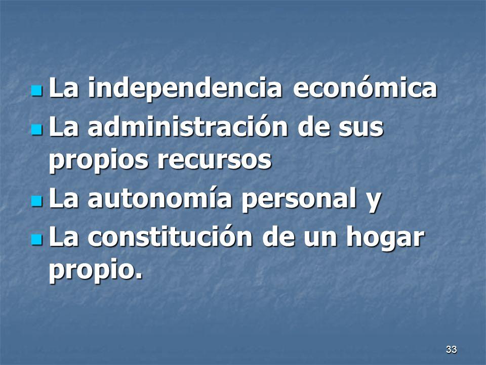 La independencia económica