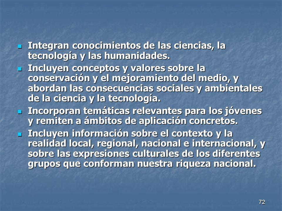 Integran conocimientos de las ciencias, la tecnología y las humanidades.