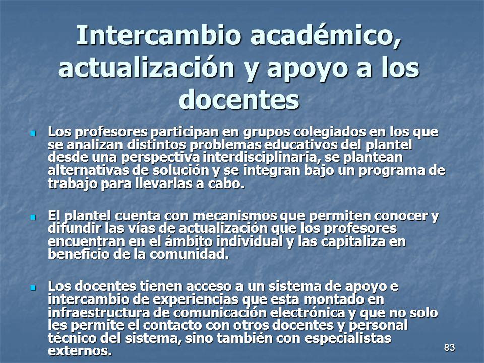 Intercambio académico, actualización y apoyo a los docentes