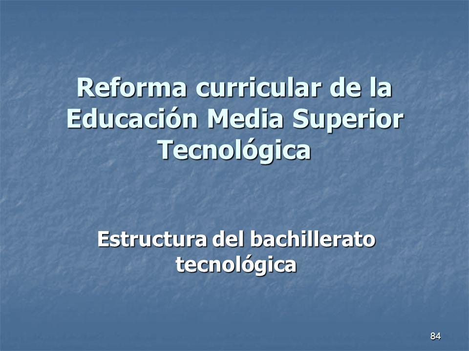 Reforma curricular de la Educación Media Superior Tecnológica